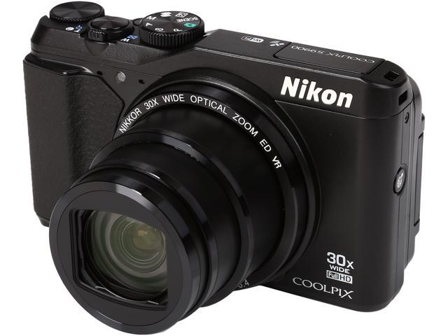 Nikon COOLPIX S9900 26497 Black 16.00 MP 30X Optical Zoom Wide Angle Digital Camera