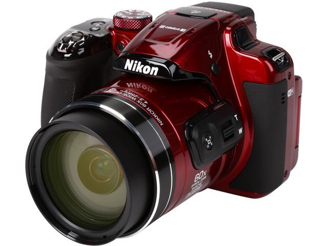 Nikon COOLPIX P610 26489 Red 16.00 MP 60X Optical Zoom 24mm Wide Angle Digital Camera