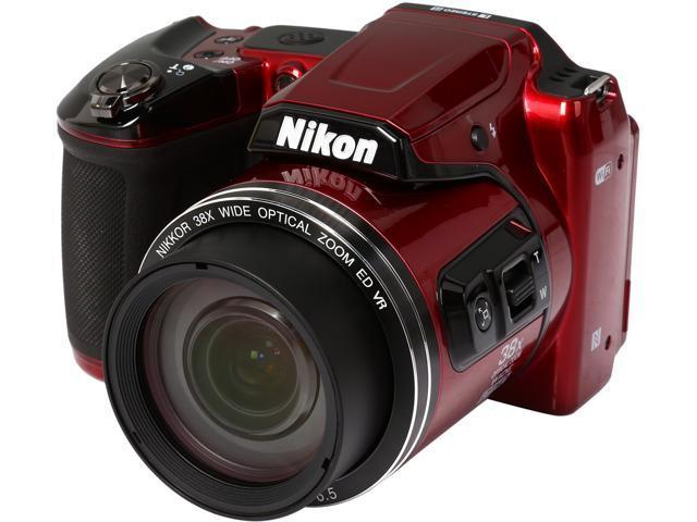 Nikon COOLPIX L840 26486 Red 16.00 MP 38X Optical Zoom Wide Angle Digital Camera