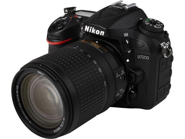 Nikon D7200 1555 Black 24.2 MP Digital SLR Camera with 18-140mm VR Lens