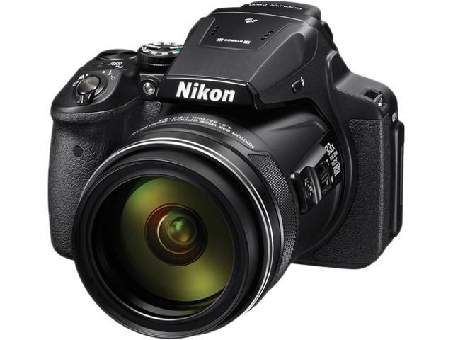 Nikon COOLPIX P900 26499 Black 16.0 MP 83X Optical Zoom 24mm Wide Angle Digital Camera HDTV Output