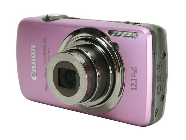 Canon PowerShot SD980 IS Purple 12.1 MP 5X Optical Zoom 24mm Wide Angle Digital Camera