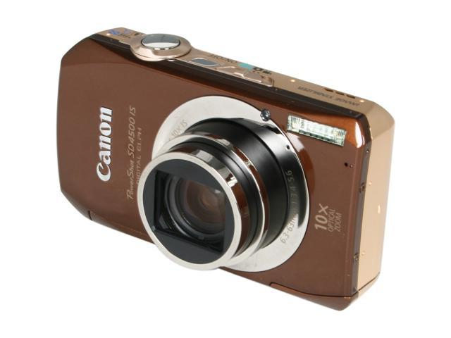 Canon SD4500 IS Brown 10.0 MP 10X Optical Zoom Digital Camera