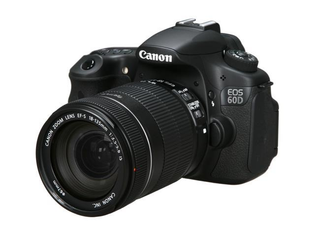 Canon EOS 60D 18MP CMOS Digital SLR Camera with EF-S 18-135mm f/3.5-5.6 IS UD Standard Zoom Lens