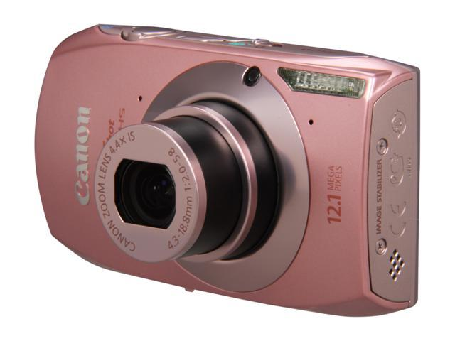 Canon ELPH 500 HS Pink 12.1 MP 4.4 X Optical Zoom 24mm Wide Angle Digital Camera