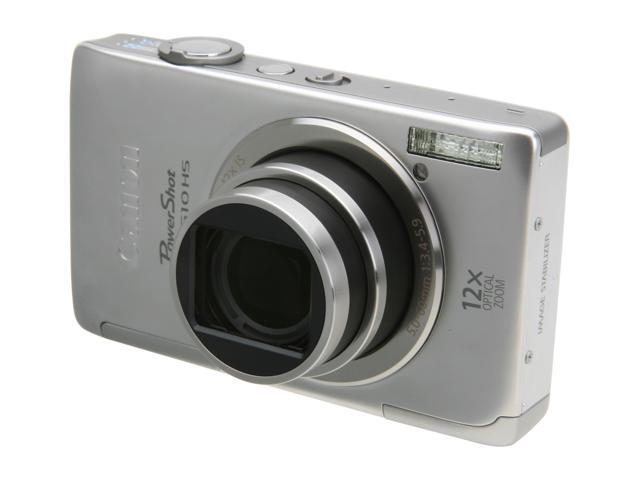 Canon PowerShot ELPH 510 HS Silver 12.1 MP 12X Optical Zoom 28mm Wide Angle Digital Camera