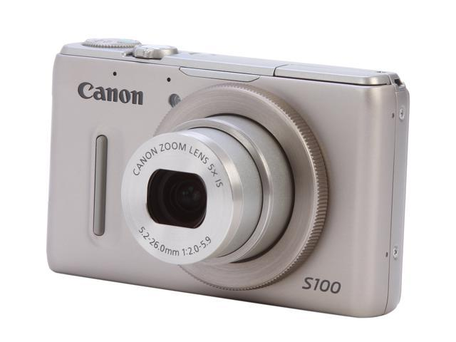 Canon PowerShot S100 5245B001 Silver 12.1 MP 5X Optical Zoom 24mm Wide Angle Digital Camera