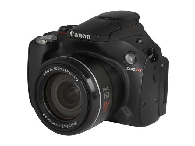 Canon PowerShot SX40 HS 5251B001 Black 12.1 MP 35X Optical Zoom 24mm Wide Angle Digital Camera