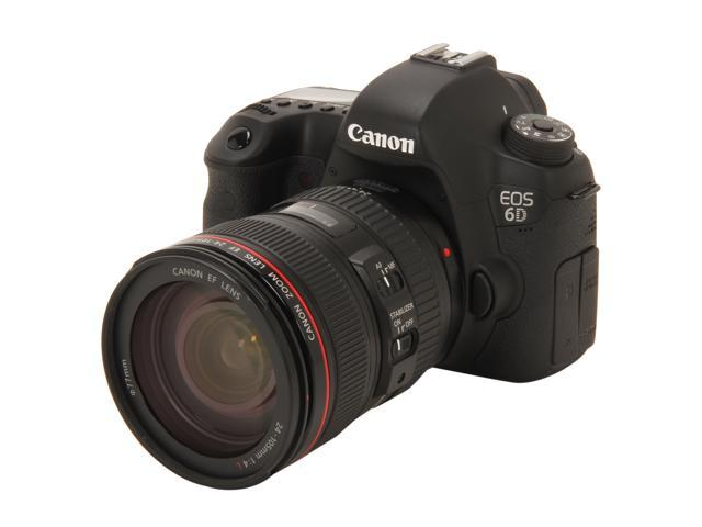 Canon EOS 6D (8035B009) Black Approx. 20.2 MP Digital SLR Camera with EF 24-105mm IS Lens