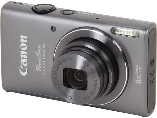 Canon PowerShot ELPH 130 IS 8191B001 Dark Grey 16.0 MP 8X Optical Zoom 28mm Wide Angle Digital Camera