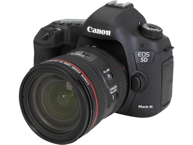 Canon EOS 5D Mark III 5260B054 Black 22.3 MP Digital SLR Camera Body with EF 24-70mm f/4L IS USM Lens