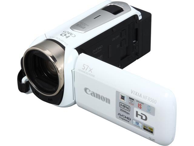 Canon VIXIA HF R500 9176B002 White 1/4.85