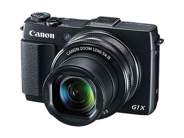 Canon PowerShot G1 X Mark II 9167B001 Black 12.8 MP 5X Optical Zoom 24mm Wide Angle Digital Camera