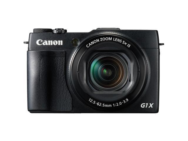 Canon PowerShot G1 X Mark II 9167B001 Black 12.8 MP 5X Optical Zoom 24mm Wide Angle Digital Camera