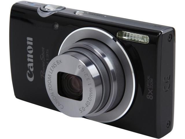 Canon PowerShot ELPH 135 9150B001 Black 16 MP 8X Optical Zoom 28mm Wide Angle Digital Camera