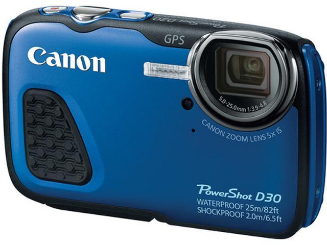 Canon PowerShot D30 9337B001 Blue 12.1 MP 3.0