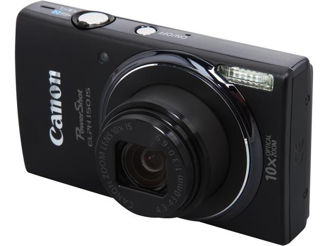 Canon PowerShot ELPH 150 IS 9356B001 Black 20.0 MP 10X Optical Zoom 24mm Wide Angle Digital Camera