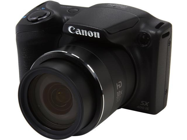 Canon PowerShot SX400 IS 9545B001 Black 16.0MP 30X Optical Zoom 24mm Wide Angle Digital Camera
