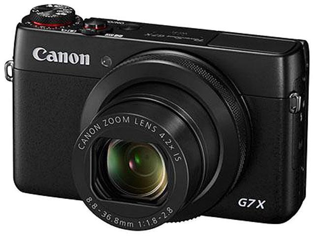 Canon PowerShot G7 X 9546B001 Black 20.2 MP 4.2X Optical Zoom 24mm Wide Angle Digital Camera HDTV Output