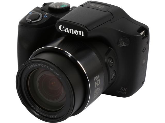 Canon PowerShot SX530 HS 9779B001 Black 16 MP 50X Optical Zoom 24mm Wide Angle High-End, Advanced Digital Camera HDTV Output