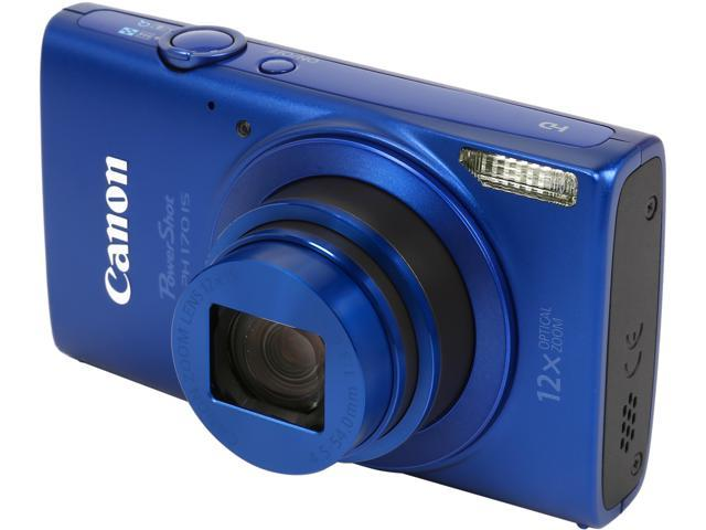 Canon PowerShot ELPH 170 IS 0130C001 Blue 20.0 MP 12X Optical Zoom 25mm Wide Angle Digital Camera