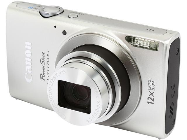 Canon PowerShot ELPH 170 IS 0127C001 Silver 20.0 MP 12X Optical Zoom 25mm Wide Angle Digital Camera
