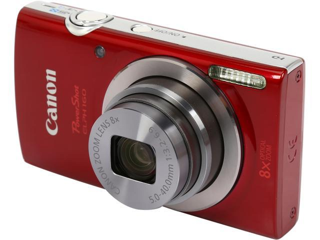 Canon PowerShot ELPH 160 0143C001 Red 20.0 MP 8X Optical Zoom 28mm Wide Angle Digital Camera