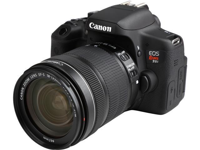 Canon S Rebel T6i 0591C005 Black 24.20 MP Digital SLR Camera with EF-S 18-135mm f/3.5-5.6 IS STM Lens