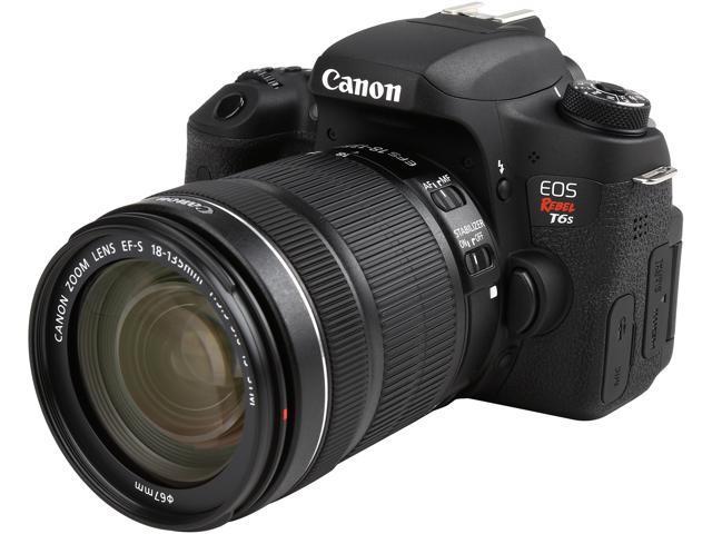 Canon EOS Rebel T6s 0020C003 Black 24.20 MP Digital SLR Camera with EF-S 18-135mm IS STM Lens