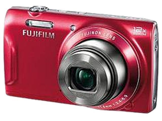 FUJIFILM FinePix T550 16309393 Red 16 MP 12X Optical Zoom 24mm Wide Angle Digital Camera