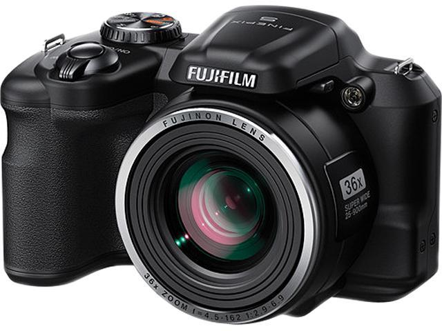 FUJIFILM FinePix S8600 Black 16.0 MP 36X Optical Zoom 25mm Wide Angle Digital Camera HDTV Output