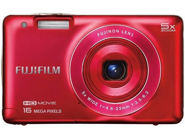 FUJIFILM FinePix JX660 16291376 Red 16 MP 5X Optical Zoom 26mm Wide Angle Digital Camera