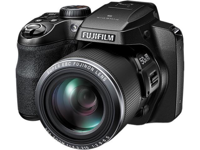 FUJIFILM FinePix S9800 16452279 Black 16.2 MP 50X Optical Zoom 24mm Wide Angle Digital Camera HDTV Output