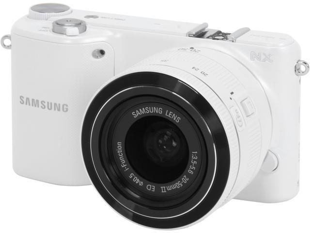 Samsung EV-NX2000BFWUS 20.3 MP Mirrorless Digital Camera with 20-50mm f/3.5-5.6 Lens (White)