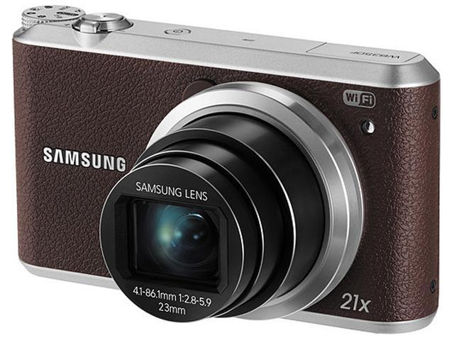 SAMSUNG WB350F Brown 16.3 Megapixel 21X Optical Zoom Smart Digital Camera