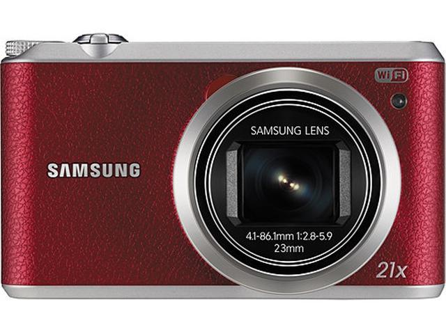 SAMSUNG WB350F Red 16.3 Megapixel 21X Optical Zoom Smart Digital Camera