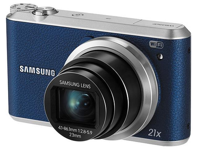 SAMSUNG WB350F Blue 16.3 Megapixel 21X Optical Zoom Smart Digital Camera