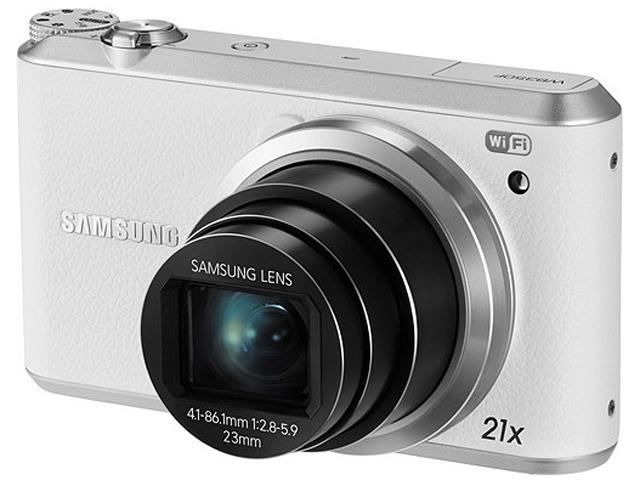 SAMSUNG WB350F White 16.3 Megapixel 21X Optical Zoom Smart Digital Camera