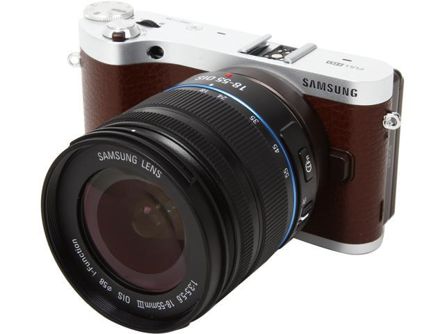 SAMSUNG NX300m EV-NX300MBSVUS Brown 20.3MP 3.31