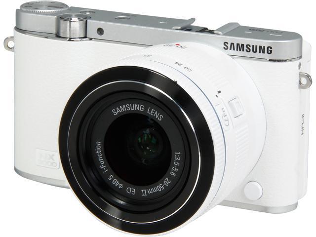 SAMSUNG NX3000 EV-NX3000BEHUS White 20.3MP 3.0