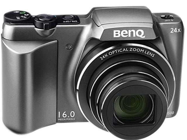 BenQ LH500 Gray 16MP 24X Optical Zoom 25mm Wide Angle Digital Camera