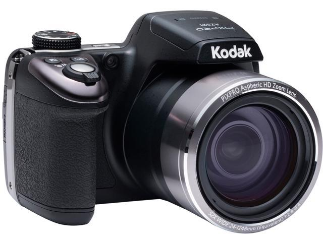 Kodak AZ521 Black 16.38 MP 52X Optical Zoom 24mm Wide Angle Digital Camera