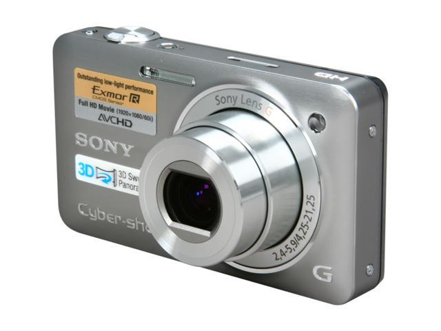 SONY DSC-WX5 Silver 12.2 MP 5X Optical Zoom 24mm Wide Angle Digital Camera