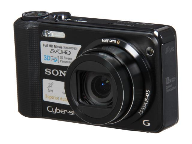 SONY DSCHX7V/B Black 16.2 MP 10X Optical Zoom 25mm Wide Angle Digital Camera