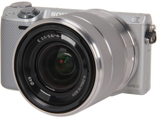 SONY Alpha NEX-5R Silver 16.1 MP 3.0