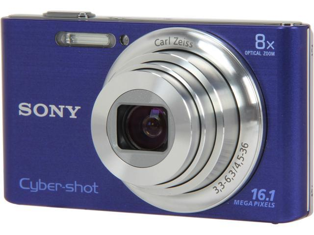 SONY DSCW730/L Blue 16.1 MP 8X Optical Zoom Digital Camera