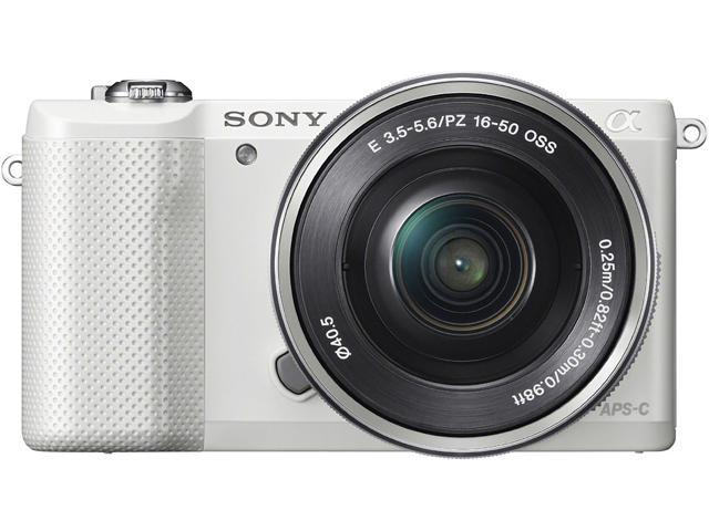 SONY Alpha a5000 ILCE-5000L/W White 20.1MP 3.0