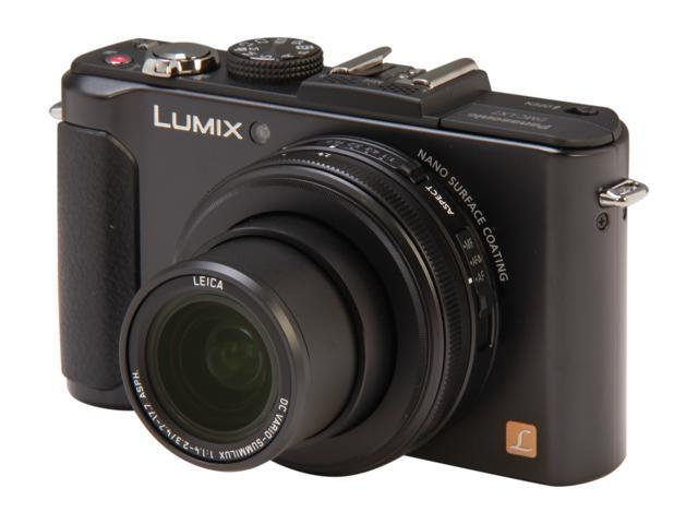 Panasonic LUMIX LX7 DMC-LX7K Black 10.1 MP 3.8X Optical Zoom 24mm Wide Angle Digital Camera HDTV Output