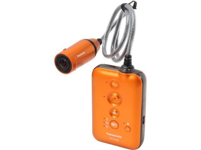 Panasonic HX-A100D Orange MOS Full HD Pocket Camcorder