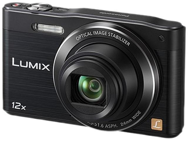 Panasonic Lumix SZ8 DMC-SZ8K Black 16 MP 12X Optical Zoom Digital Camera